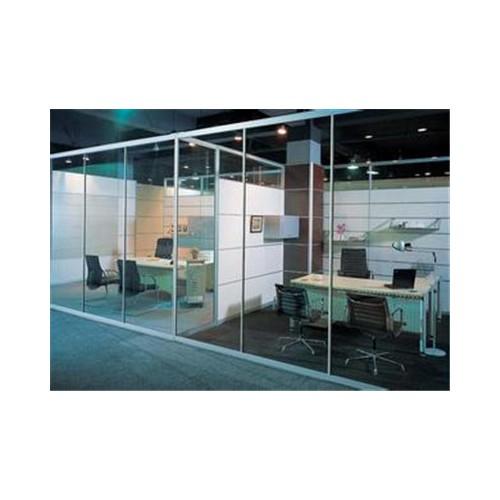 一格通透式单层玻璃隔墙