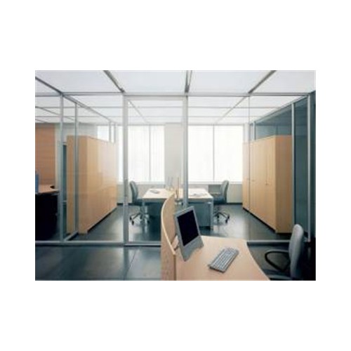 28卡凡系列·单层玻璃隔断