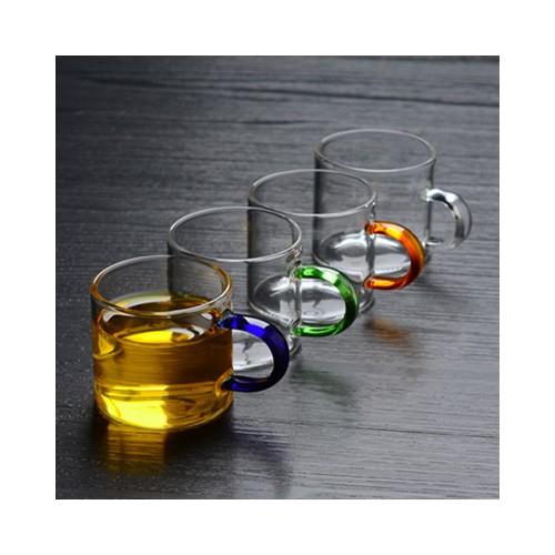 高硼硅玻璃小茶杯带把