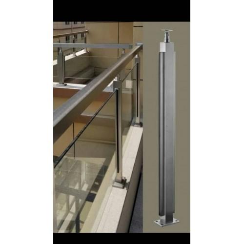 玻璃卡槽扶手管立柱 玻璃卡槽立柱价格