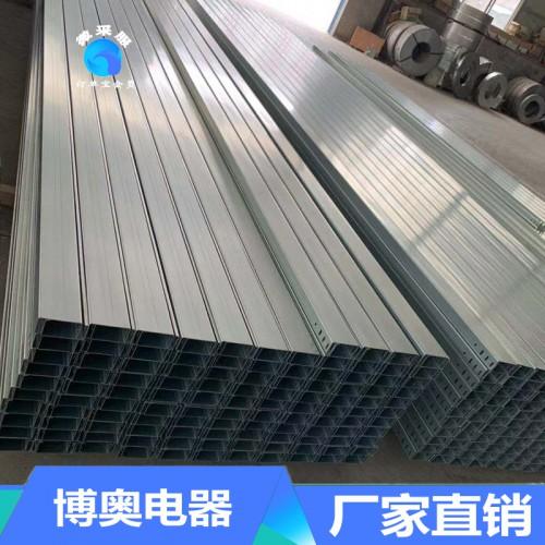 热镀锌大跨距槽式桥架100*50*1.2*6000