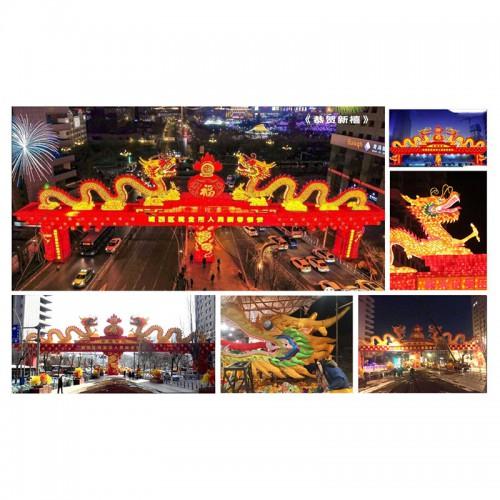 灯会展览制作公司 大型花灯设计 北京春节花灯 灯会制作莲花灯
