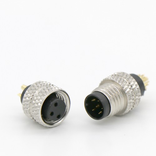 M8 包胶防水连接器 m8公母防水插座插头连接器