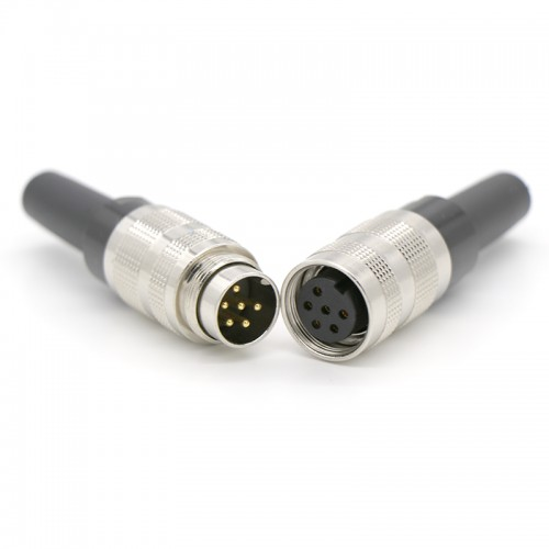 M16 金属装配防水连接器 m16公母防水插座插头连接器