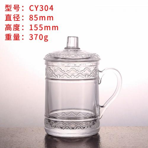 鼎顺玻璃 玻璃咖啡杯 耐高温玻璃水杯 值得信赖