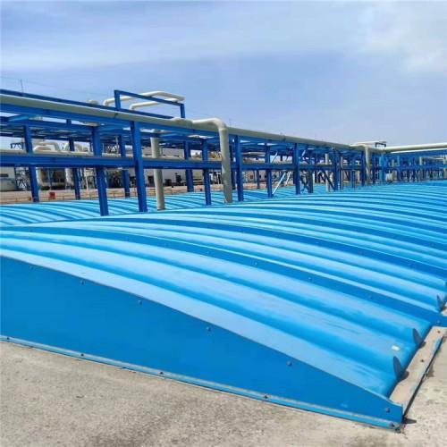 污水臭气加盖 污水池加盖除臭 污水池玻璃钢盖板加工定制