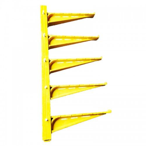 黄色组合式电缆支架500复合玻璃钢支架组合5层支架