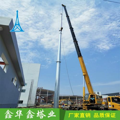 厂家直销20米角钢避雷塔25米圆钢避雷塔30米锥形钢管避雷塔