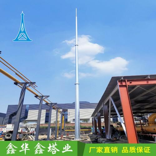 厂家直销单管避雷塔 棱形钢管避雷塔 锥形钢管杆避雷塔欢迎选购