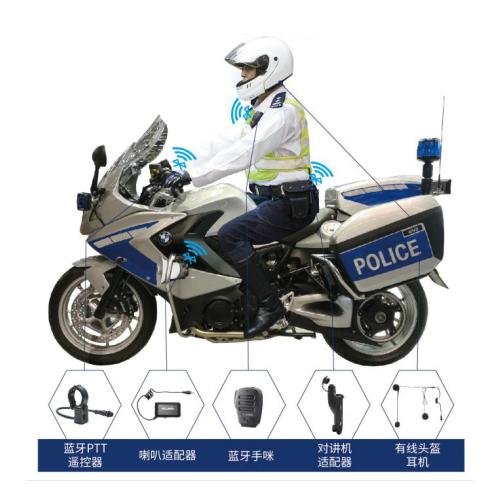 警用摩托车通讯头盔蓝牙无线通讯头盔骑警蓝牙通讯系统