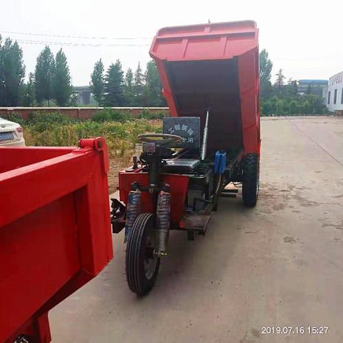 载重1吨三轮车 矿用电动三轮车 翻斗矿用运渣车