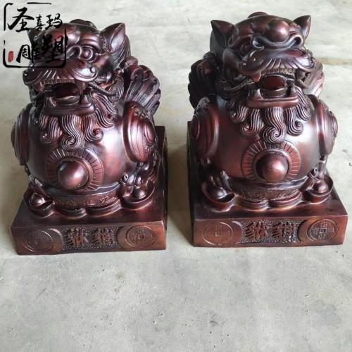 纯铜工艺铸造铜貔貅家居商铺招财铜雕摆件