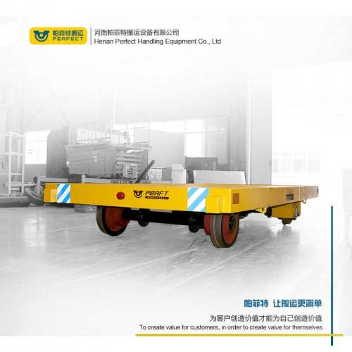 定制轨道过跨车 无轨平板转运车 30吨搬运平板车