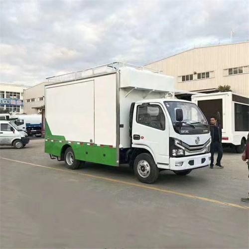 东风福瑞卡国六排放餐车 带液压拓展厨房车