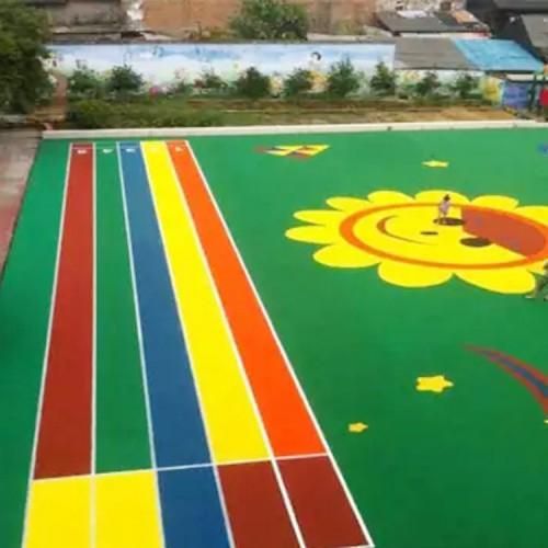幼儿园塑胶地面 操场塑胶地面