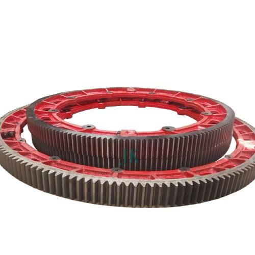 铸钢齿轮滚筒干燥机大齿圈配件