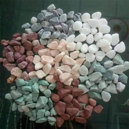 洗米石 胶粘石 红色石子 透水胶粘石