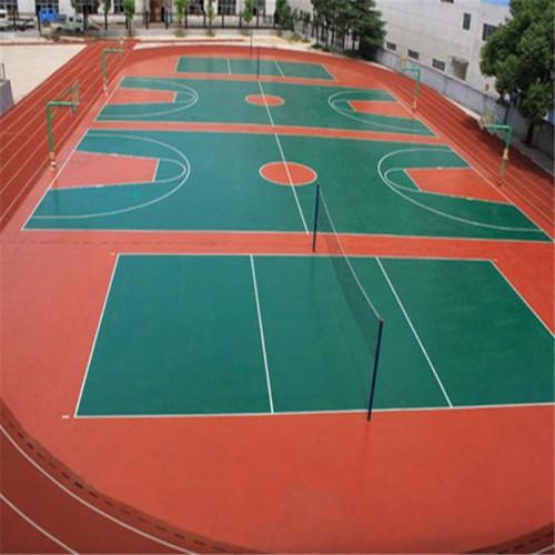 硅PU球场 硅pu网球场羽毛球场 厂家