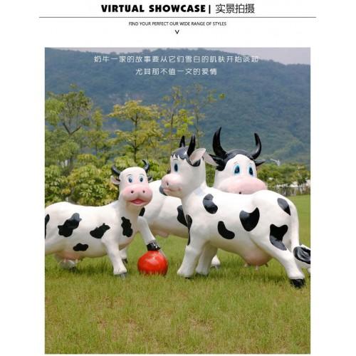牛年雕塑  商场美陈摆件 小区景观雕塑  卡通雕塑