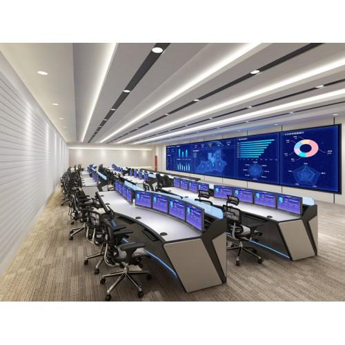 广东数据控制中心 电力调度交通指挥中心控制台指挥桌调度台定制