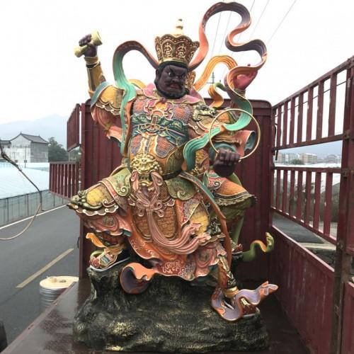 寺庙玻璃钢四大天王佛像 极彩四大金佛像图片