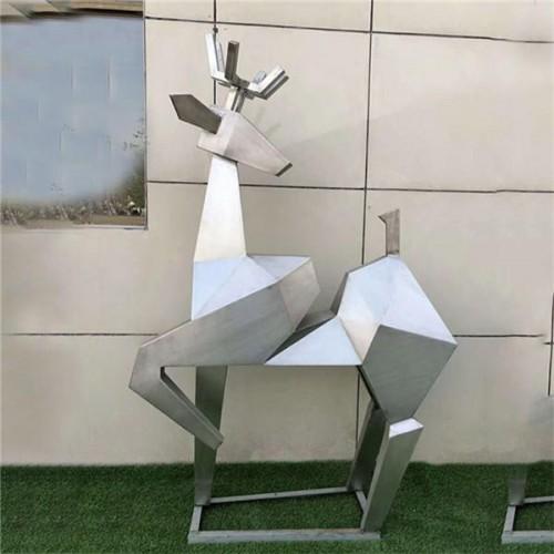 不锈钢雕塑 鹿雕塑 景观雕塑 大型雕塑厂家