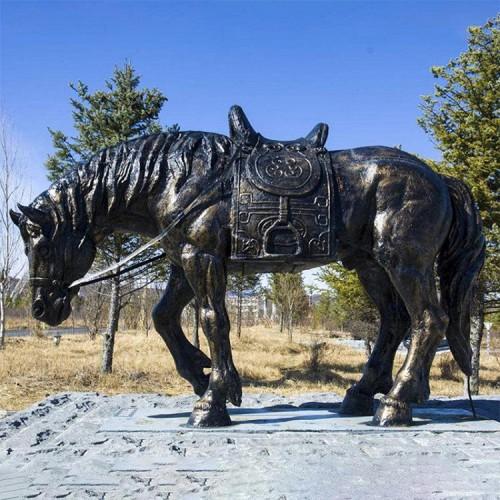 动物雕塑  园林雕塑 铸铜马雕塑定制