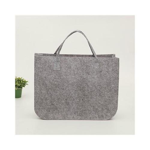 毛毡手提包 毛毡布袋 简约时尚无纺布超市购物袋