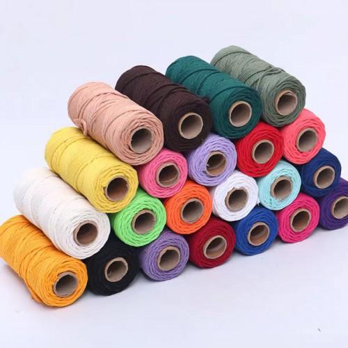 彩色棉线捆绑绳 供应环保装饰棉绳