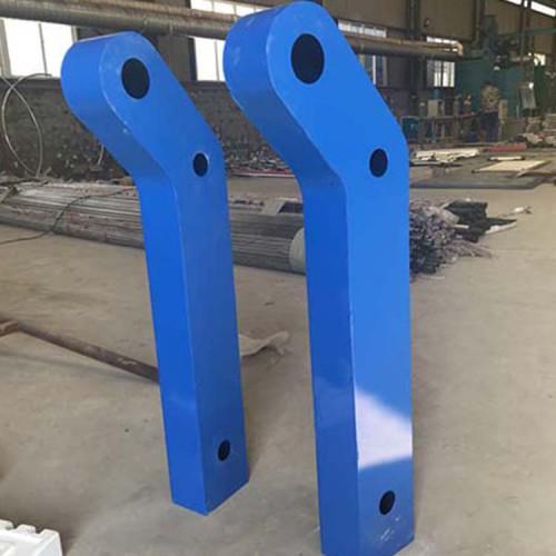 护栏钢板立柱 防撞钢板立柱 喷塑钢板立柱