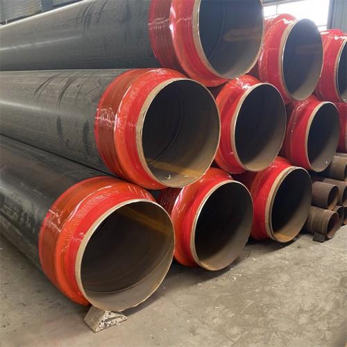 DN500直埋保温钢管 聚氨酯直埋保温管道 聚乙烯外护保温管
