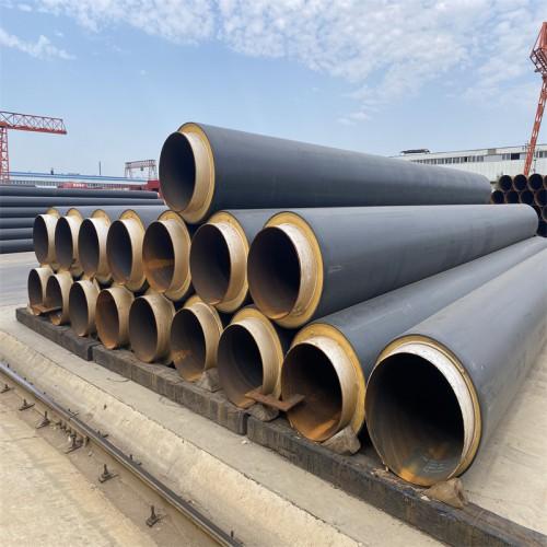 DN800直埋保温钢管 聚氨酯发泡保温管道 聚乙烯外护保温管